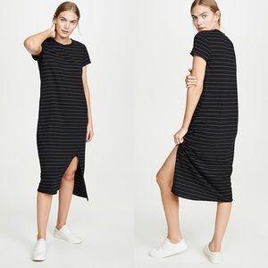 FRANK & EILEEN Asymmetrical T-Shirt Dress Black